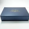 Новогодняя коробка с запечаткой горошком по бумаге с блестками
