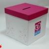 Коробка с прорезью для сбора бумажек