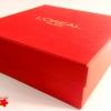 Подарункова коробка кришка-дно з тисненням логотипу
