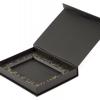Подарочная коробка на магнитах с ложементом и тиснением