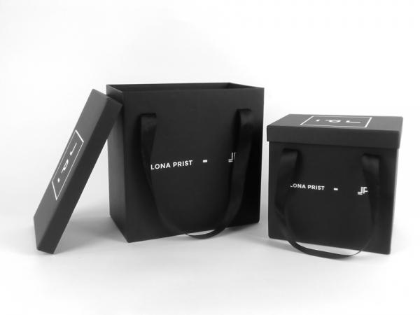 Стильные коробки с ручками для аксессуаров. Для проекта LONA PRIST