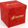 Бархатные коробки с тиснением для cчастье