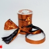 Лента полисилк двухцветная, черно-оранжевая, ширина 12 см. Цена за метр.