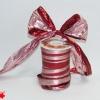 Лента полисилк двухцветная, красно-розовая, ширина 12 см. Цена за метр.