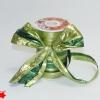 Лента полисилк двухцветная, зелено-салатовая, ширина 12 см. Цена за метр.