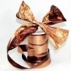 Лента полисилк двухцветная, медно-коричневая, ширина 12 см. Цена за метр.