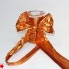Лента полисилк оранжевая. Моток 12 см на 100 метров.