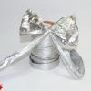 Стрічка полісілк срібляста,ширина 12 см .Ціна за метр