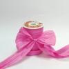 Стрічка декоративна матова «пом'ятий целофан» рожевого кольору.Моток 12 см на 100 метрів