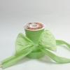 Стрічка декоративна матова «пом'ятий целофан» пастельно-зеленого кольору, ширина 12 см. Ціна за метр