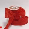 Стрічка декоративна матова «пом'ятий целофан» червоного кольору, ширина 12 см. Ціна за метр