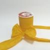 Стрічка декоративна матова «пом'ятий целофан» жовтого кольору, ширина 12 см. Ціна за метр