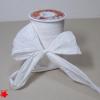 Стрічка декоративна матова «пом'ятий целофан» білого кольору, ширина 12 см. Ціна за метр