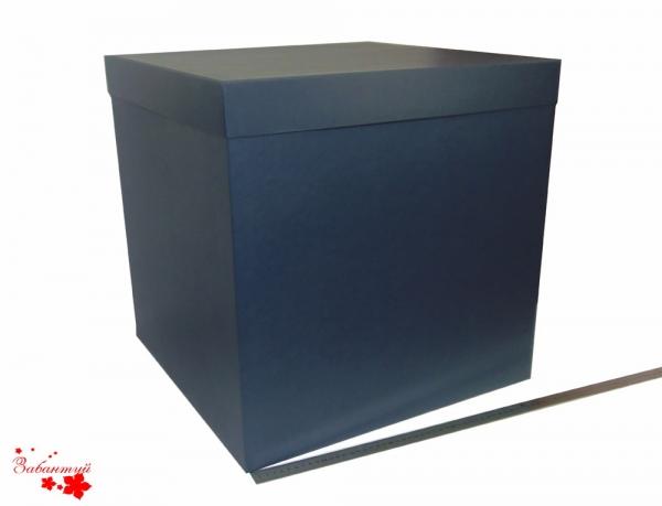 Коробка со съемной крышкой. Цвет: темно-синий. Размер 50х50х50 см