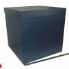Розмір 50х50х50 см. Коробка зі з`ємною кришкою. Колір темно-синій