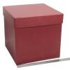 Коробка для подарка. Цвет бордовый. Размер 25*25*25 см.