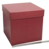 Размер 25х25х25 см. Коробка для подарка. Цвет бордовый