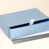Размер 15*10*3,5 см Выдвижная коробка. Цвет голубой.