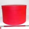 Диаметр 39 см, высота 25 см. Круглая коробка. Цвет: красный.