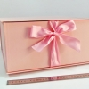 Розмір 35х35х16 см. Коробка з стрічках. Колір рожевий