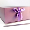 Розмір 35х35х16 см. Коробка з стрічках. Колір фіолетовий