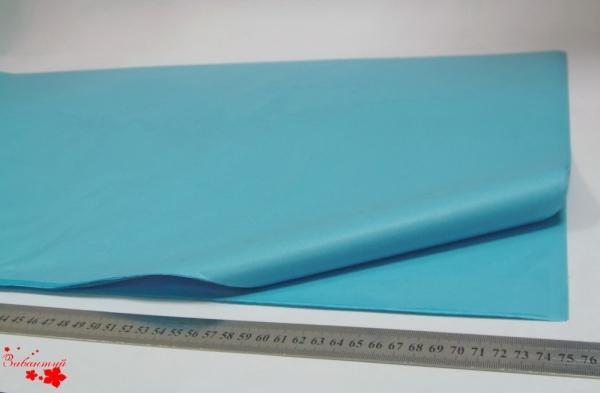 Папиросная бумага тишью 50*75 см. Цвет: голубой китаец (код 3060)