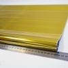Однотонная пленка фольга для упаковки подарков 60см на 12м. золотого цвета