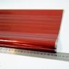 Однотонная пленка фольга для подарков 60см на 12м. красного цвета