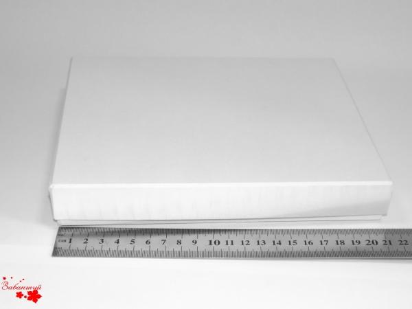 Подарочная коробка. Цвет белый. Размер: 21х18х3 см