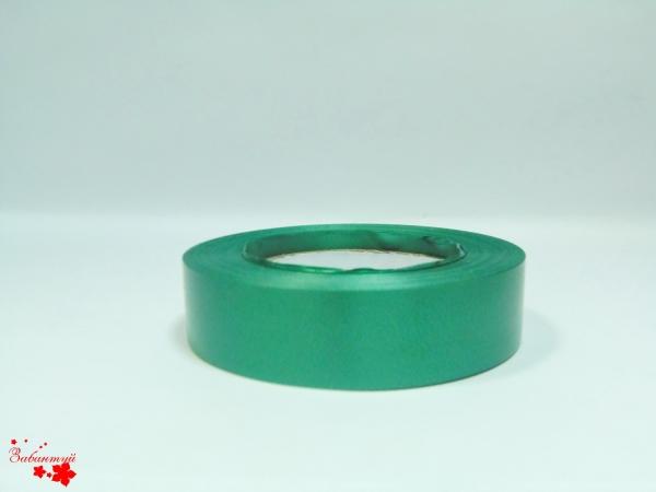Лента полипропиленовая для упаковки подарков и цветов 3см на 50м. Цвет: зеленый