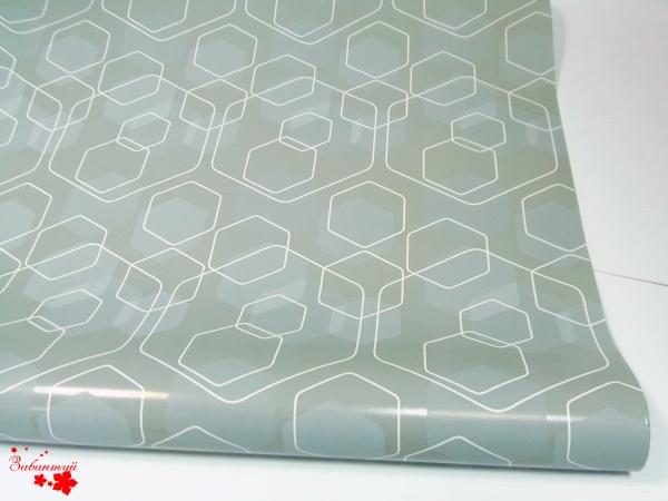 Бумага для подарков. Дизайн: соты на сером. 1 метр на 10 метров.