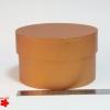 Діаметр 16 см висота 10 см. Кругла коробка. Колір рудий