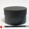 Діаметр 16 см висота 10 см. Кругла коробка. Колір чорний