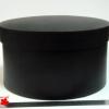Диаметр 29 см, высота 17 см. Круглая коробка. Цвет: черный.