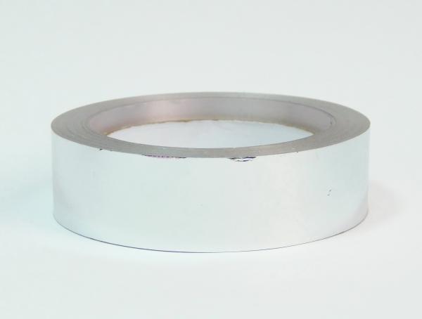 Лента металлизированная для упаковки 3 см на 32м. Цвет: серебристый
