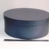 Круглая коробка. Цвет: синий. Диаметр 39 см, высота 15 см