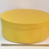 Диаметр 39 см, высота 15 см Круглая коробка. Цвет: желтый.