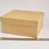 Подарочная коробка со съемной крышкой. Цвет крафтовый. Размер 22*18*10 см