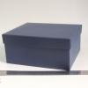 Подарочная коробка со съемной крышкой. Цвет темно-синий. Размер 22*18*10 см