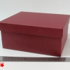 Розмір 22х18х10 см. Коробка зі з`ємною кришкою. Колір бордовий
