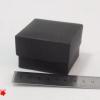 Розмір 6х6х4 см. Коробка зі з`ємною кришкою. Колір чорний