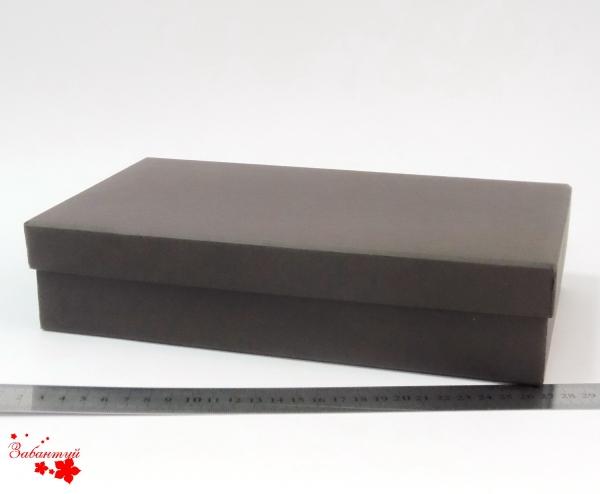 Размер 27*15*6 см Подарочная коробка со съемной крышкой. Цвет коричневый.