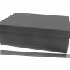 Розмір 30х20х10 см. Коробка зі з`ємною кришкою. Колір чорний