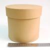 Диаметр 16 см, высота 15 см Круглая коробка. Цвет: крафтовый.