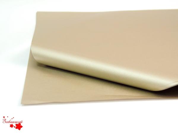 Бумага тишью 50*75 см. Цвет: светло-медный (код 804).