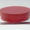 Диаметр 20 см, высота 5 см Круглая коробка. Цвет: бордовый.