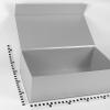 Розмір 40х25х15 см. Коробка з магнітним кріпленням. Колір сріблястий