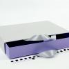 Розмір 35*25*5 см Висувна коробка з ручками. Колір сіро-бузковий