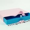 Розмір 35*25*5 см Висувна коробка з ручками. Колір рожево-блакитний