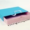 Розмір 35*25*5 см Висувна коробка з ручками. Колір блакитно-рожевий